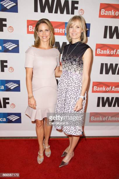 Natalie Morales and Willow Bay attend the International Women's Media Foundation 2017 Courage In Journalism Awards at NeueHouse Hollywood on October...