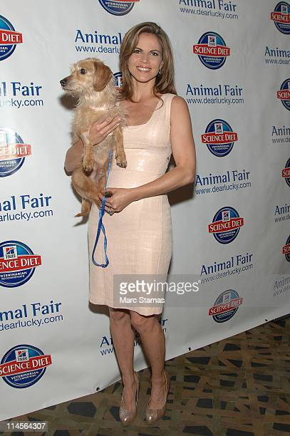 Natalie Morales attends the 11th annual Paws for Style fashion show benefiting the Humane Society of New York at Ink 48 Hotel on May 23 2011 in New...