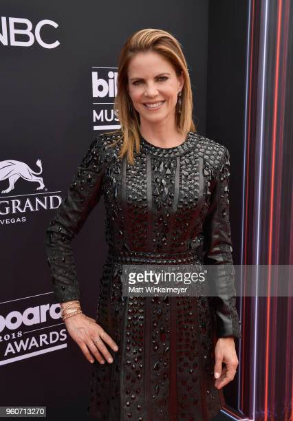 Natalie Morales attends the 2018 Billboard Music Awards at MGM Grand Garden Arena on May 20 2018 in Las Vegas Nevada