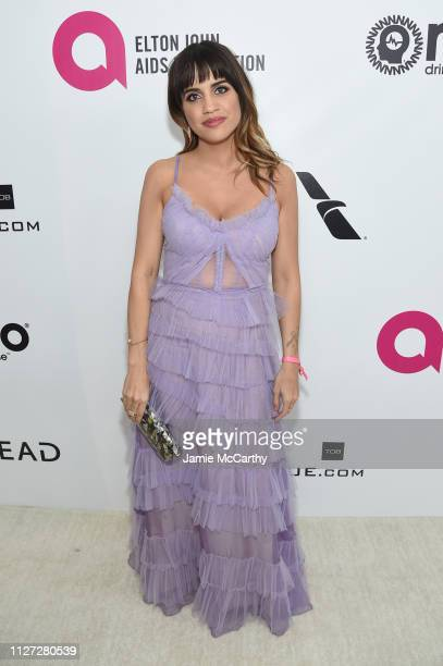 Natalie Morales attends the 27th annual Elton John AIDS Foundation Academy Awards Viewing Party sponsored by IMDb and Neuro Drinks celebrating EJAF...