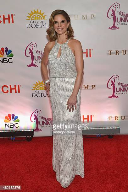 Natalie Morales attends The 63rd Annual Miss Universe Pagean at Trump National Doral on January 25 2015 in Doral Florida