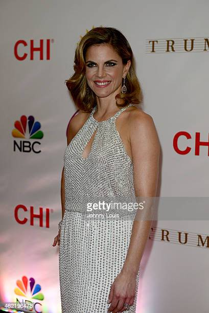 Natalie Morales attends The 63rd Annual Miss Universe Pageant Red Carpet at Trump National Doral on January 25 2015 in Doral Florida