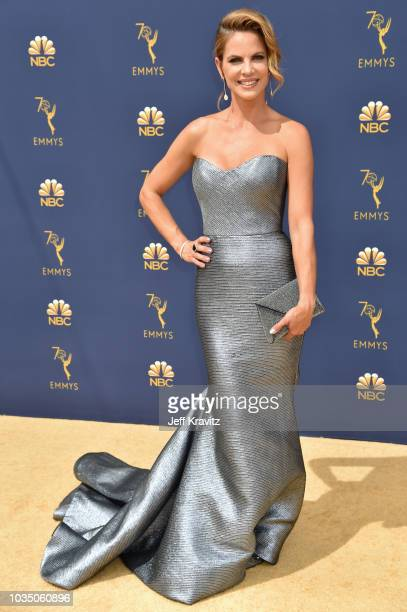 Natalie Morales attends the 70th Emmy Awards at Microsoft Theater on September 17 2018 in Los Angeles California