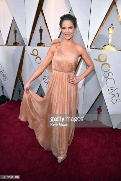 Natalie Morales attends the 90th Annual Academy Awards at Hollywood Highland Center on March 4 2018 in Hollywood California