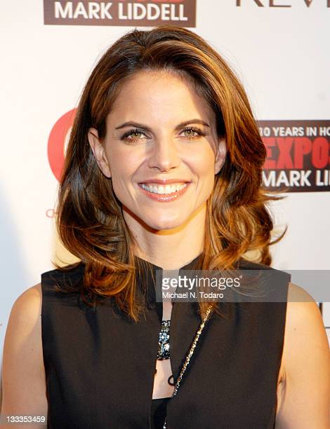 Natalie Morales attends the Mark Liddell debut book party for Exposed 10 Years in Hollywood hosted by Halle Berry at the Crosby Street Hotel on...