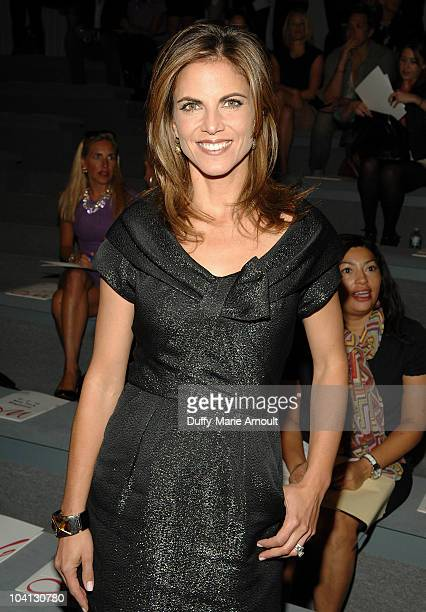 Natalie Morales attends the Milly by Michelle Smith Spring 2011 fashion show during Mercedes-Benz Fashion Week at The Stage at Lincoln Center on...