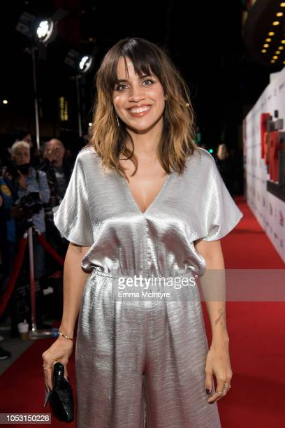 Natalie Morales attends the premiere of Amazon Studios' Suspiria at ArcLight Cinerama Dome on October 24 2018 in Hollywood California
