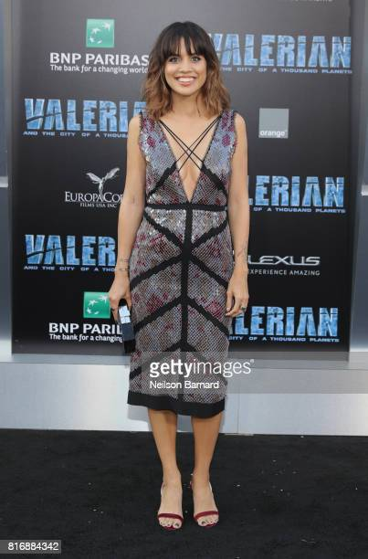 Natalie Morales attends the premiere of EuropaCorp and STX Entertainment's Valerian and The City of a Thousand Planets at TCL Chinese Theatre on July...