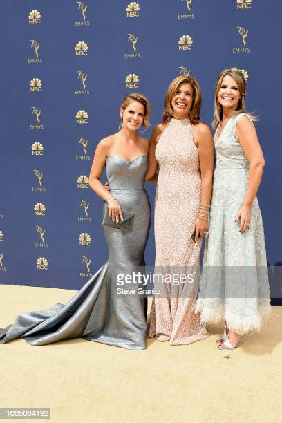 Natalie Morales Hoda Kotb and Savannah Guthrie attend the 70th Emmy Awards at Microsoft Theater on September 17 2018 in Los Angeles California