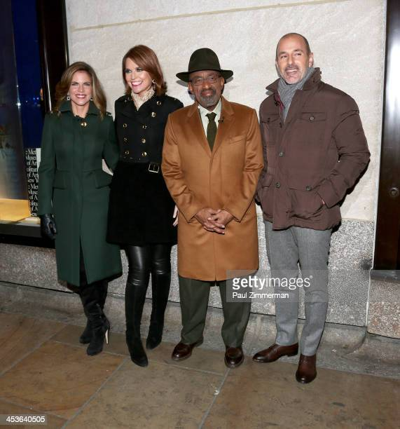 Natalie Morales Savannah Guthrie Al Roker and Matt Lauer attend the 81st annual Rockefeller Center Christmas Tree Lighting Ceremony on December 4...