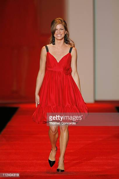 Natalie Morales wearing Tracey Reese during Heart Truth Red Dress Fall 2007