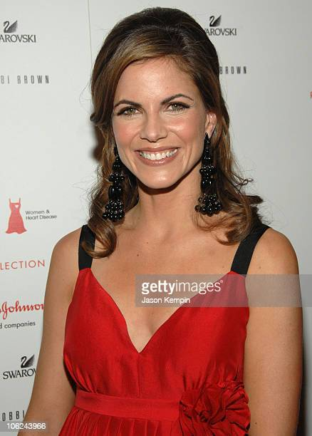 Natalie Morales wearing Tracey Reese during MercedesBenz Fashion Week Fall 2007 Heart Truth Red Dress Arrivals in New York City New York United States