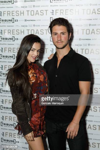 Natalie Negrotti and Jeff Perla attend The Fresh Toast Celebration Event at TAO Downtown on October 7 2019 in New York City