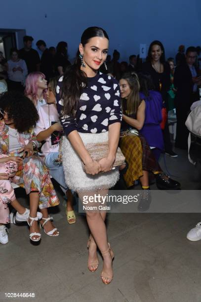 Natalie Negrotti attends the Nana Judy show in gallery I at New York Fashion Week The Shows at Spring Studio on September 6 2018 in New York City