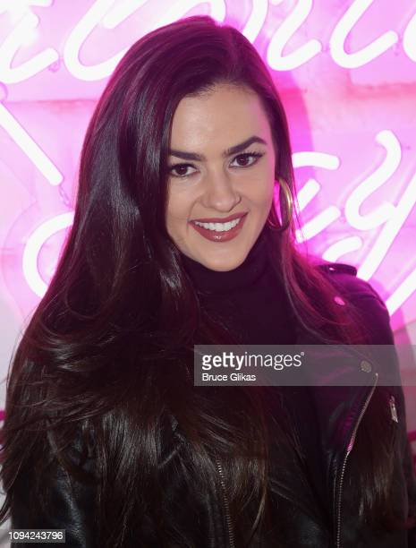 Natalie Negrotti poses at The Urban Skin Galentine's Day Event hosted by Eva Marcille Founder/Medical Aesthican Rachel Roff at Pure Space on February...