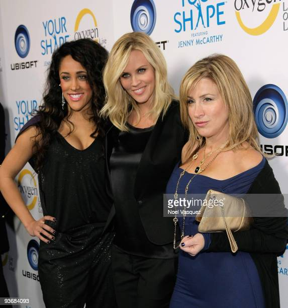 Natalie Nunn Jenny McCarthy and Lisa Ann Walter attend the Your Shape Launch Party at Hyde Lounge on December 2 2009 in West Hollywood California