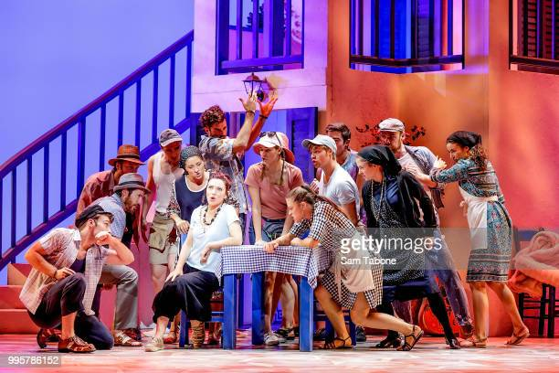 Natalie O'Donnell during a production media call for Mamma Mia The Musical at Princess Theatre on July 11 2018 in Melbourne Australia
