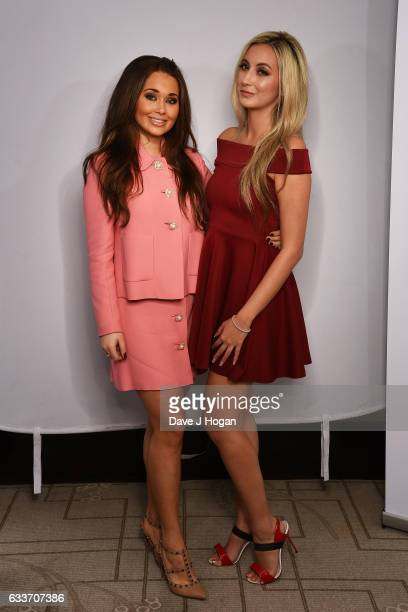 Natalie Parry and Sienna MysonDavies attend the Zoom F1 Charity auction on February 3 2017 in London United Kingdom