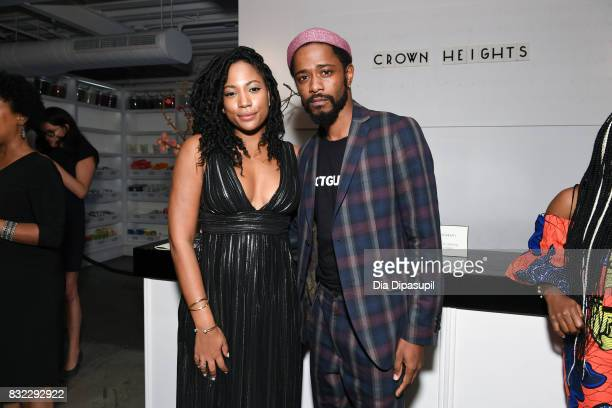 Natalie Paul and Lakeith Stanfield attend the Crown Heights New York premiere after party at Metrograph on August 15 2017 in New York City