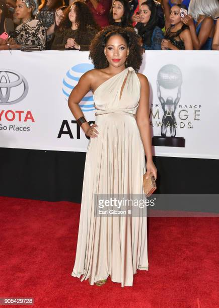 Natalie Paul at the 49th NAACP Image Awards on January 15 2018 in Pasadena California