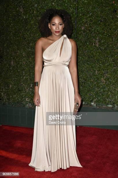 Natalie Paul attends the 49th NAACP Image Awards Arrivals at Pasadena Civic Auditorium on January 15 2018 in Pasadena California