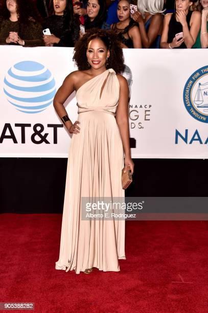 Natalie Paul attends the 49th NAACP Image Awards at Pasadena Civic Auditorium on January 15 2018 in Pasadena California