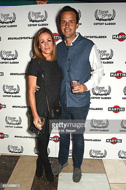 Natalie Pinkham and Charlie Gilkes attend the launch of Bunga Bunga in Covent Garden on January 12 2017 in London England