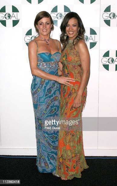 Natalie Pinkham and Liz Bonnin during The Aura of Asia Arrivals and Show at Battersea Marquee in London Great Britain
