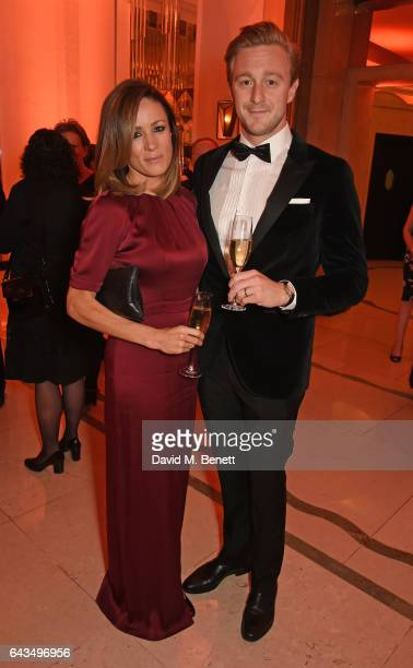 Natalie Pinkham and Owain Walbyoff attend the annual BFI Chairman's Dinner honouring Peter Morgan with the BFI Fellowship at Claridge's Hotel on...