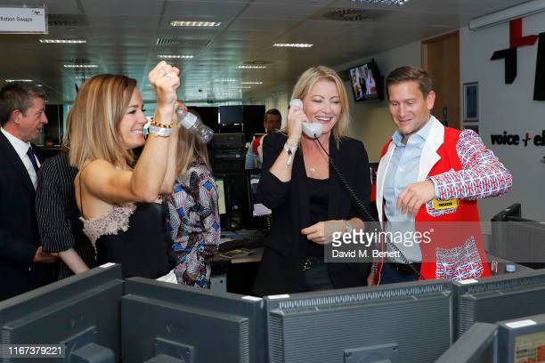 Natalie Pinkham and Rachel Brookes representing Hope And Homes For Children attend BGC Charity Day at One Churchill Place on September 11, 2019 in...