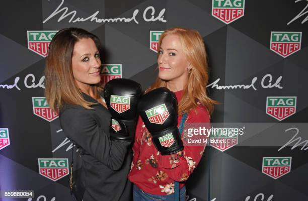 Natalie Pinkham and SarahJane Mee attend the launch of the TAG Heuer Muhammad Ali Limited Edition Timepieces at BXR Gym on October 10 2017 in London...