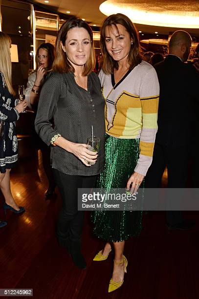 Natalie Pinkham and Yasmin Le Bon attend a Ladies' Winter Lunch in aid of Child Bereavement UK at The Bulgari Hotel on February 25 2016 in London...