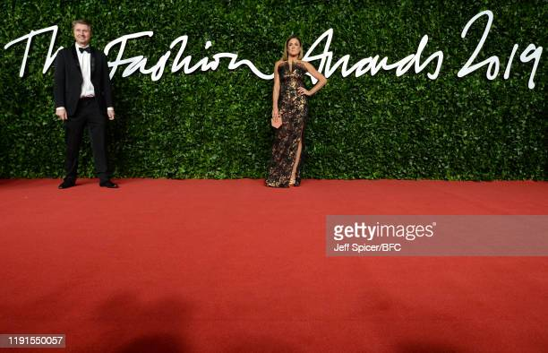 Natalie Pinkham arrives at The Fashion Awards 2019 held at Royal Albert Hall on December 02, 2019 in London, England.
