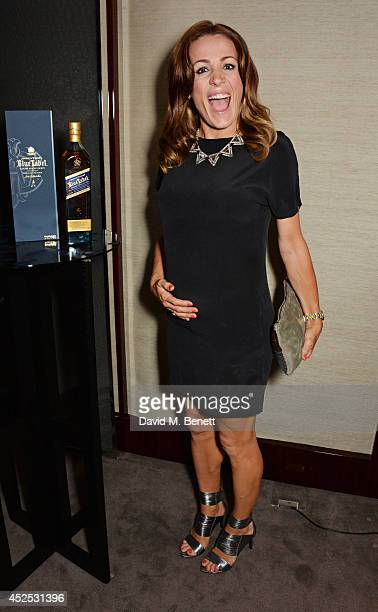 Natalie Pinkham attends a VIP screening of Gentleman's Wager hosted by Johnnie Walker Blue Label at The Bulgari Hotel on July 22 2014 in London...