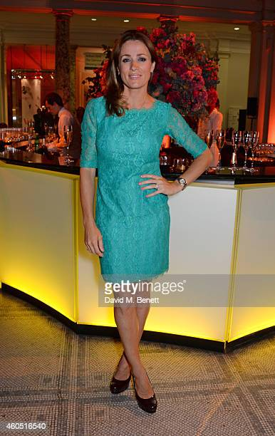 Natalie Pinkham attends The F1 Party in aid of the Great Ormond Street Children's Hospital at the Victoria and Albert Museum on July 2 2014 in London...