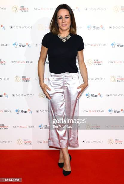 Natalie Pinkham attends the Maiden premiere at The Curzon Mayfair on March 07 2019 in London England