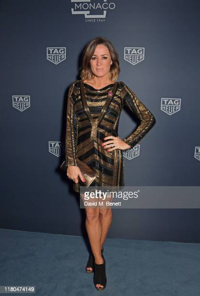 Natalie Pinkham attends the star-studded celebration of the 50th anniversary of the iconic TAG Heuer Monaco, featuring the launch of two new special...