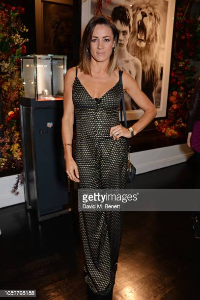Natalie Pinkham attends the TAG Heuer auction featuring unseen art work from the Don't Crack Under Pressure Campaign in association with Cara...