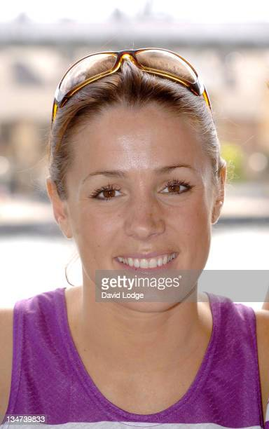 Natalie Pinkham during 2005 Michelob Ultra London Triathlon at ExCel Centre in London Great Britain