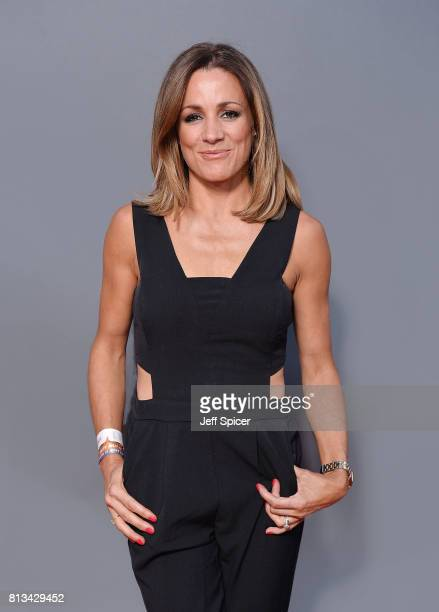 Natalie Pinkham during F1 Live London at Trafalgar Square on July 12 2017 in London England F1 Live London the first time in Formula 1 history that...