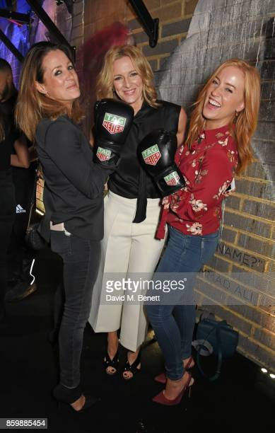 Natalie Pinkham Gabby Logan and SarahJane Mee attend the launch of the TAG Heuer Muhammad Ali Limited Edition Timepieces at BXR Gym on October 10...
