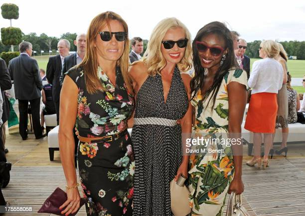Natalie Pinkham Katherine Jenkins and Beverley Knight attend day 2 of the Audi Polo Challenge at Coworth Park Polo Club on August 4 2013 in Ascot...