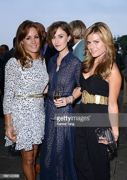Natalie Pinkham Katherine Kelly and Zoe Hardman attend the celebrity golf classic drinks reception at the South Lodge Hotel on May 20 2013 in Horsham...