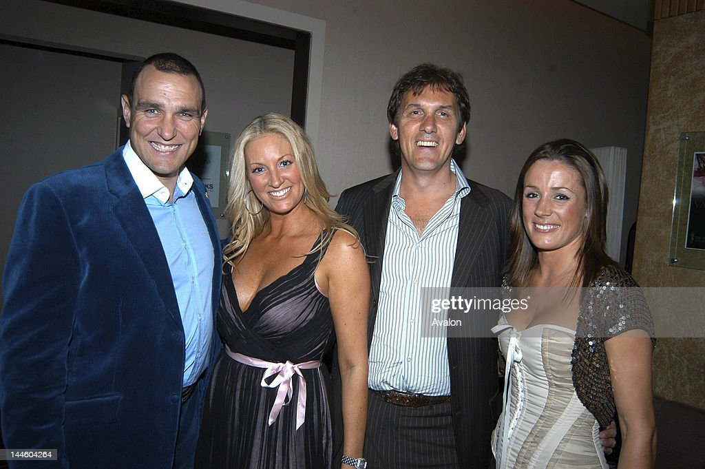 Natalie Pinkham with Sarah Bosnich, Vinnie Jones and Tony Cascarino and Michael Greco; The Vinnie Jones poker night, Gloucester.; 18th January 2006; 12751; Only;