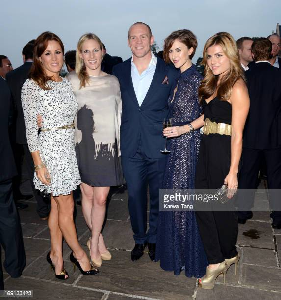 Natalie Pinkham Zara Phillips Mike Tindall Katherine Kelly and Zoe Hardman at a drinks reception for the celebrity golf classic at South Lodge Hotel...