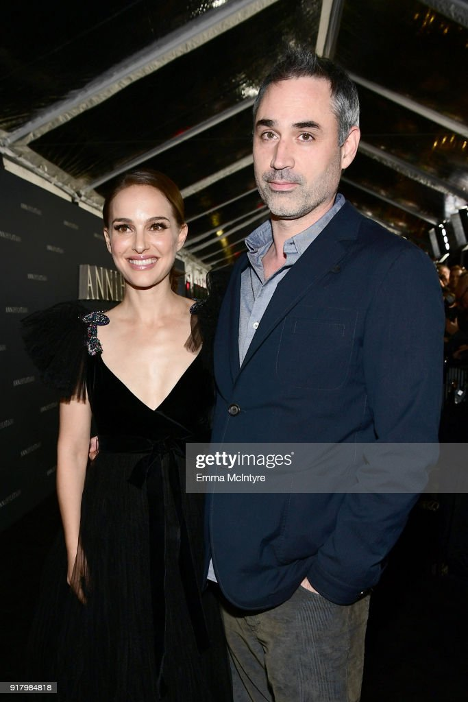 Natalie Portman (L) and Alex Garland attend the premiere of Paramount Pictures' 'Annihilation' at Regency Village Theatre on February 13, 2018 in Westwood, California.