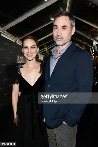 Natalie Portman and Alex Garland attend the premiere of Paramount Pictures' 'Annihilation' at Regency Village Theatre on February 13 2018 in Westwood...