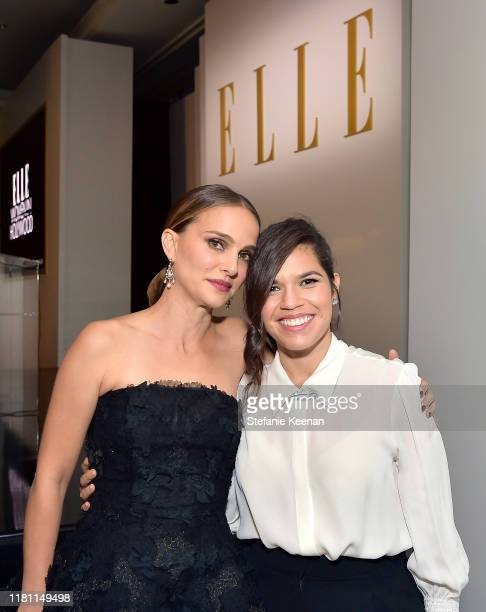 Natalie Portman and America Ferrera attend ELLE's 26th Annual Women In Hollywood Celebration Presented By Ralph Lauren And Lexus at The Four Seasons...