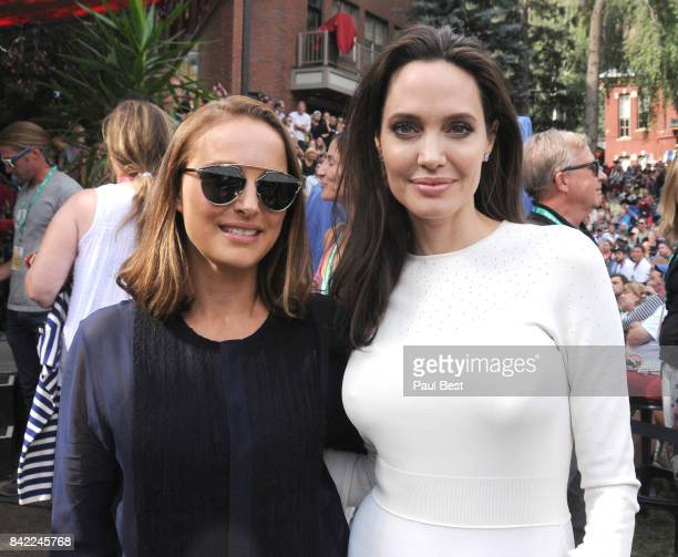 Natalie Portman and Angelina Jolie attend the Telluride Film Festival 2017 on September 2 2017 in Telluride Colorado