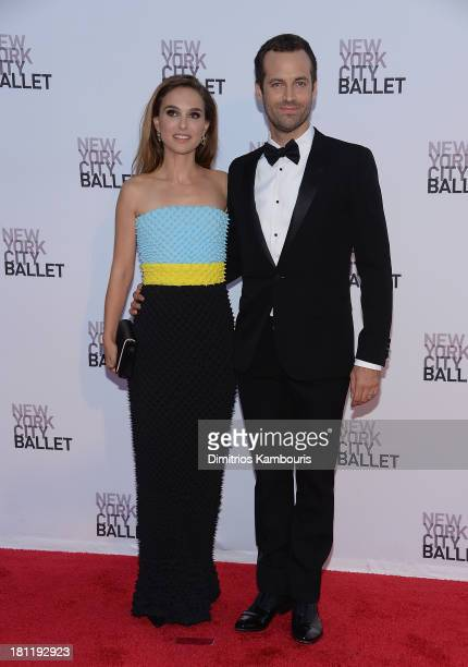 Natalie Portman and Benjamin Millepied attend New York City Ballet 2013 Fall Gala at David H. Koch Theater, Lincoln Center on September 19, 2013 in...